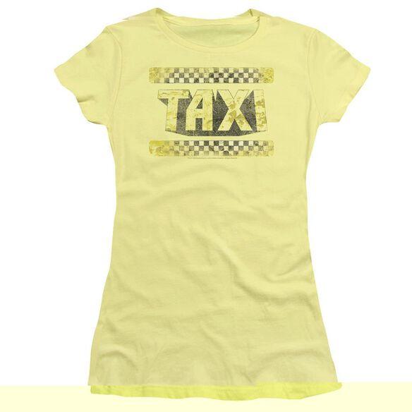 TAXI RUN DOWN TAXI - S/S JUNIOR SHEER - BANANA T-Shirt