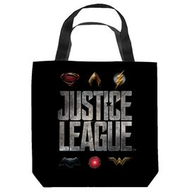 Justice League Movie Justice League Logos Tote