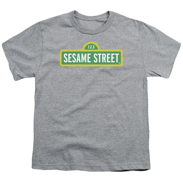 Sesame Street Logo Short Sleeve Youth Athletic T-Shirt