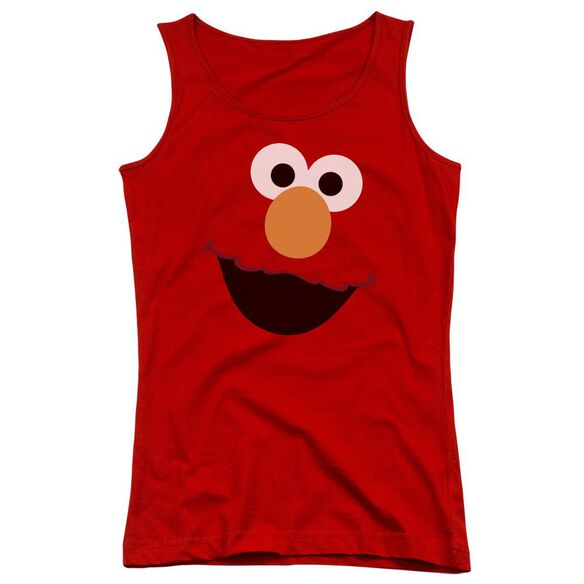 Sesame Street Elmo Face Juniors Tank Top