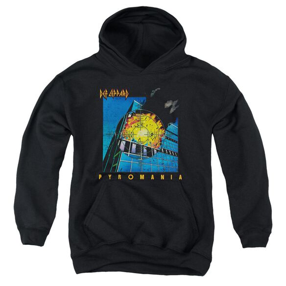 Def Leppard Pyromania Youth Pull Over Hoodie