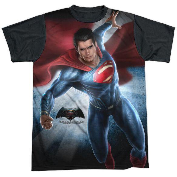 Batman V Superman Superman Light Short Sleeve Adult Front Black Back T-Shirt