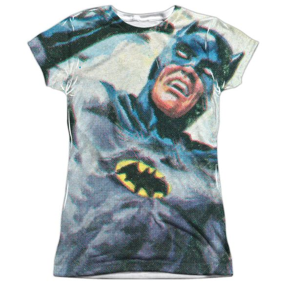 Batman Classic Tv Foliage Short Sleeve Junior Poly Crew T-Shirt