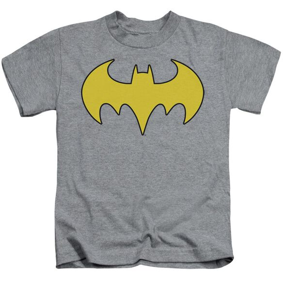 Dc Bat Girl Logo Short Sleeve Juvenile Athletic Heather T-Shirt