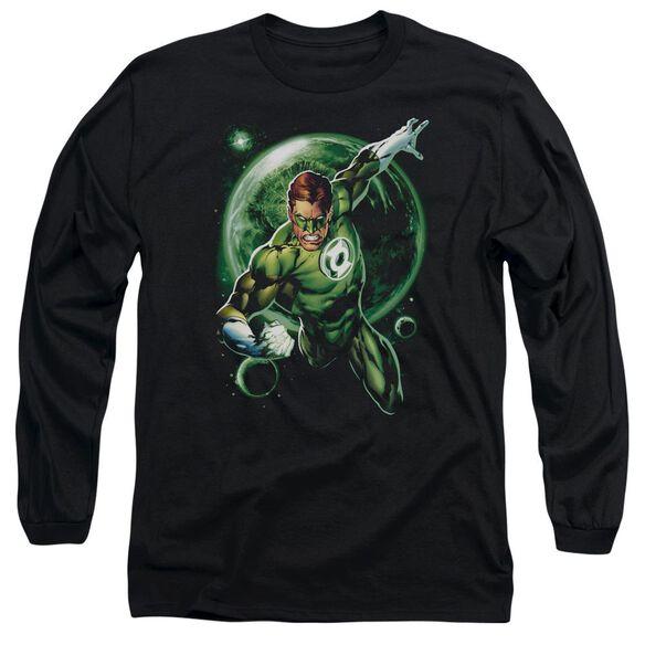 Green Lantern Galaxy Glow Long Sleeve Adult T-Shirt