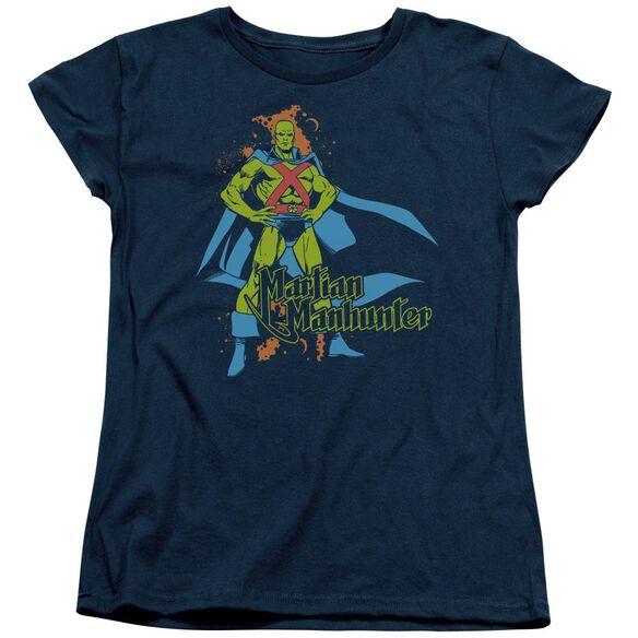 Dc Martian Manhunter Short Sleeve Womens Tee T-Shirt