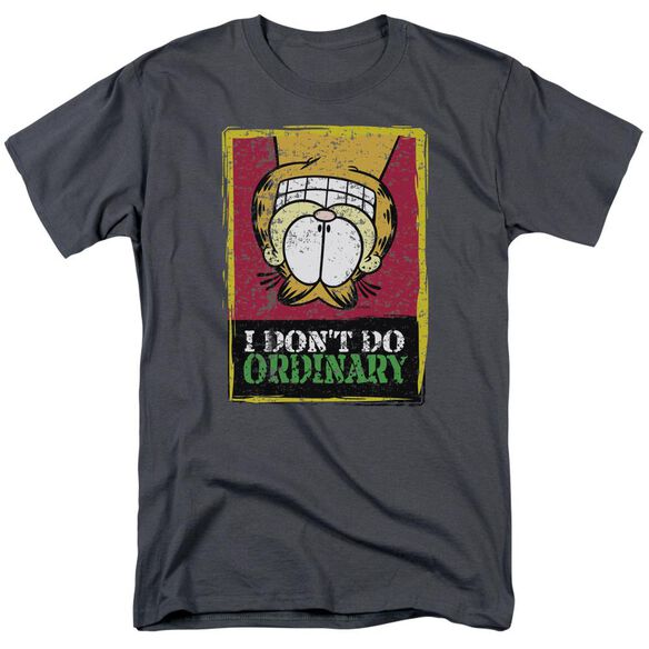 GARFIELD I DONT DO ORDINARY - S/S ADULT 18/1 - CHARCOAL T-Shirt