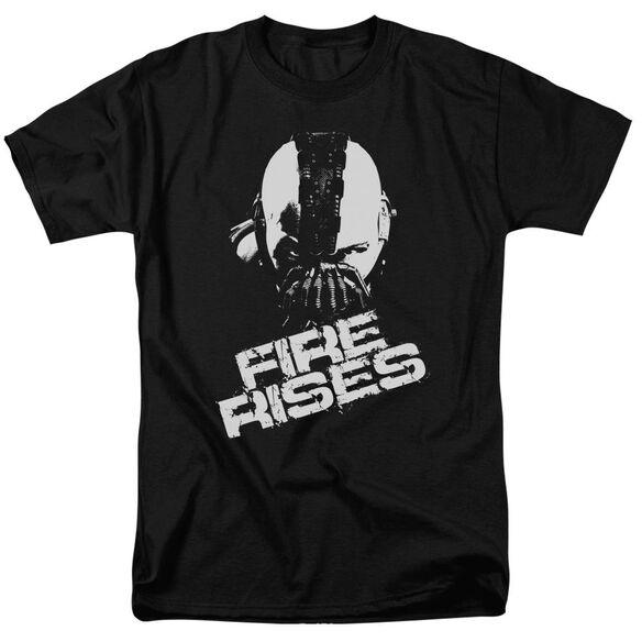 Dark Knight Rises Fire Rises Short Sleeve Adult Black T-Shirt