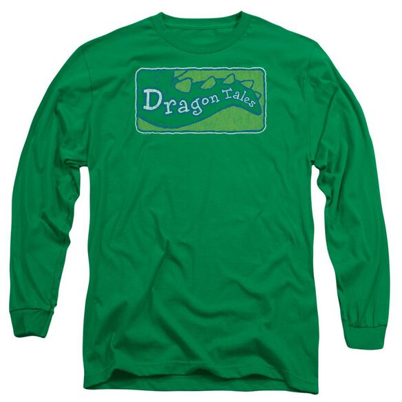 Dragon Tales Logo Distressed Long Sleeve Adult Kelly T-Shirt