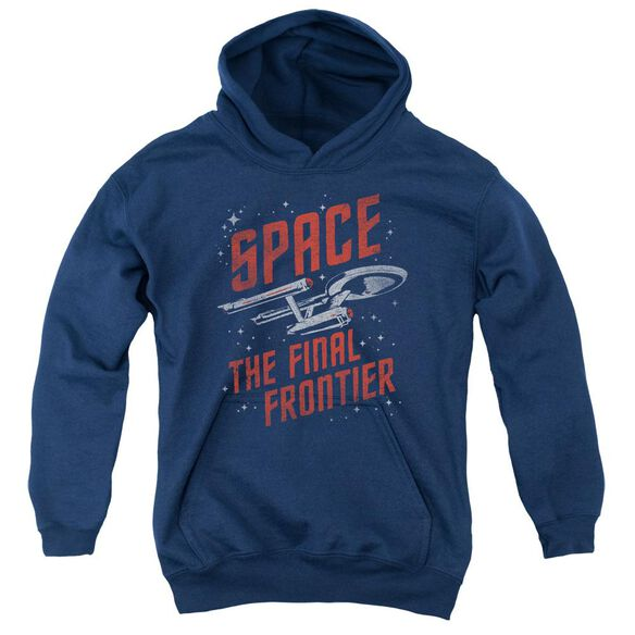 Star Trek Space Travel Youth Pull Over Hoodie