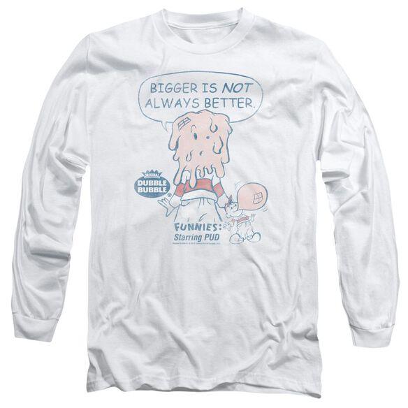 Dubble Bubble Bigger Long Sleeve Adult T-Shirt
