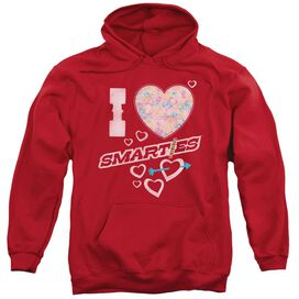 Smarties I Heart Smarties Adult Pull Over Hoodie
