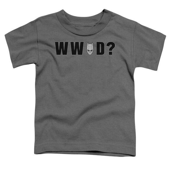 Dark Knight Wwbd Head Short Sleeve Toddler Tee Charcoal T-Shirt