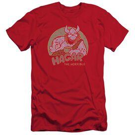 Hagar The Horrible Hagar Circle Short Sleeve Adult Royal T-Shirt