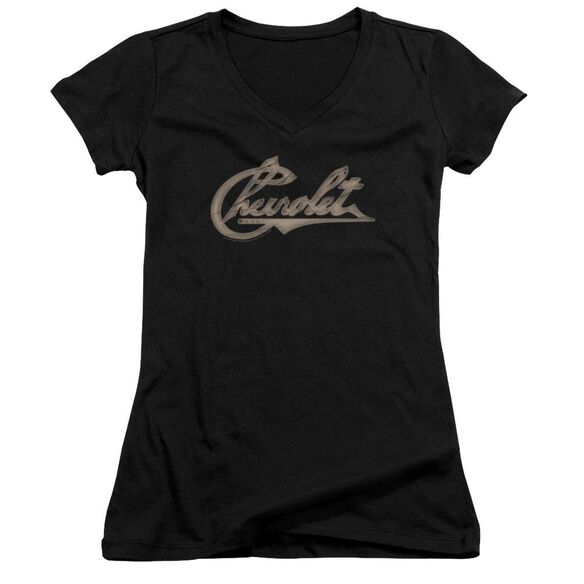 Chevrolet Chevy Script Junior V Neck T-Shirt