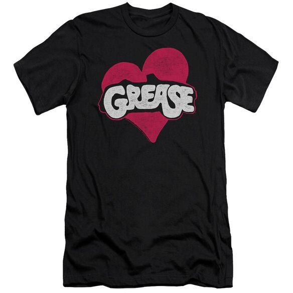 Grease Heart Short Sleeve Adult T-Shirt