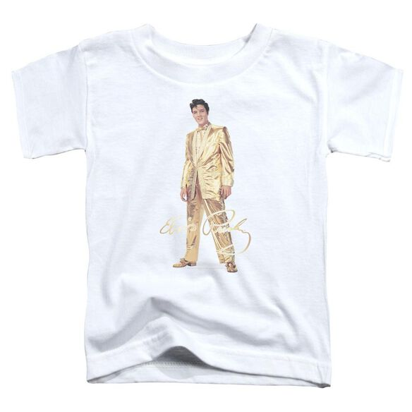 Elvis Gold Lame Suit Short Sleeve Toddler Tee White Md T-Shirt