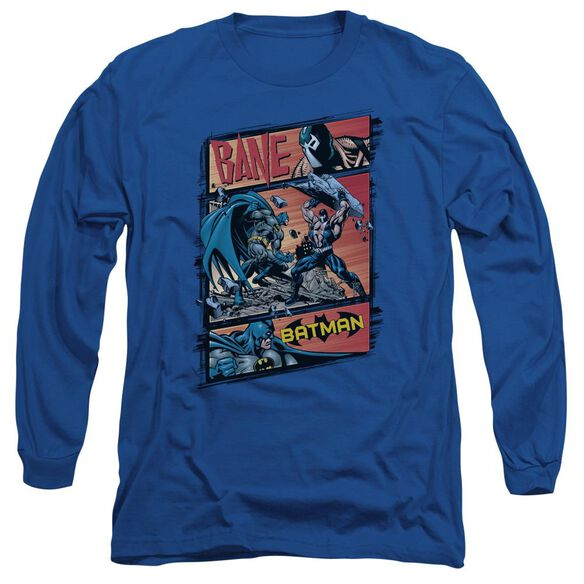 Batman Epic Battle Long Sleeve Adult Royal T-Shirt
