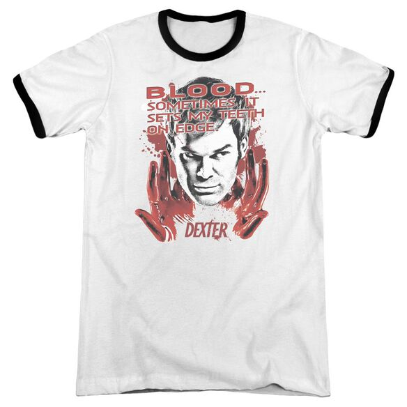 Dexter Blood Adult Ringer White Black