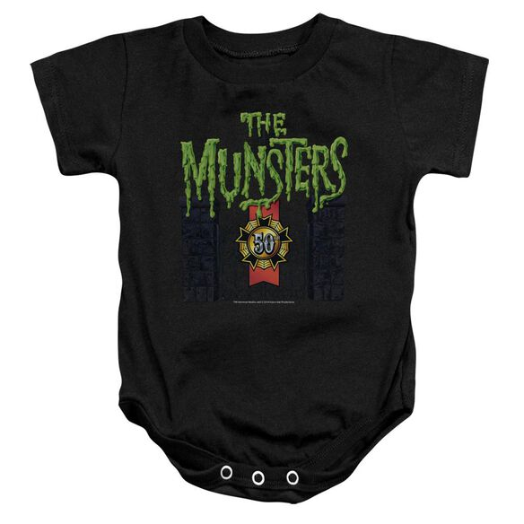 The Munsters 50 Year Logo Infant Snapsuit Black