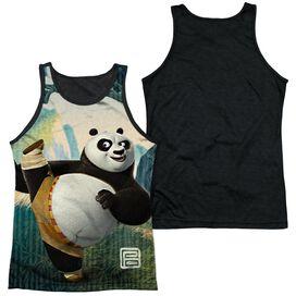 Kung Fu Panda Training Adult Poly Tank Top Black Back