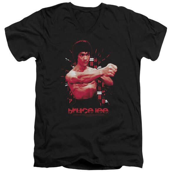 Bruce Lee The Shattering Fist Short Sleeve Adult V Neck T-Shirt