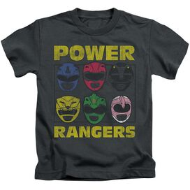 Power Rangers Ranger Heads Short Sleeve Juvenile T-Shirt