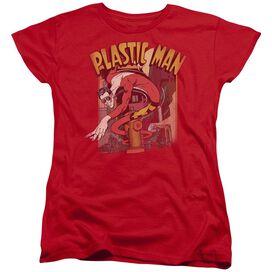 Dc Plastic Man Street Short Sleeve Womens Tee T-Shirt