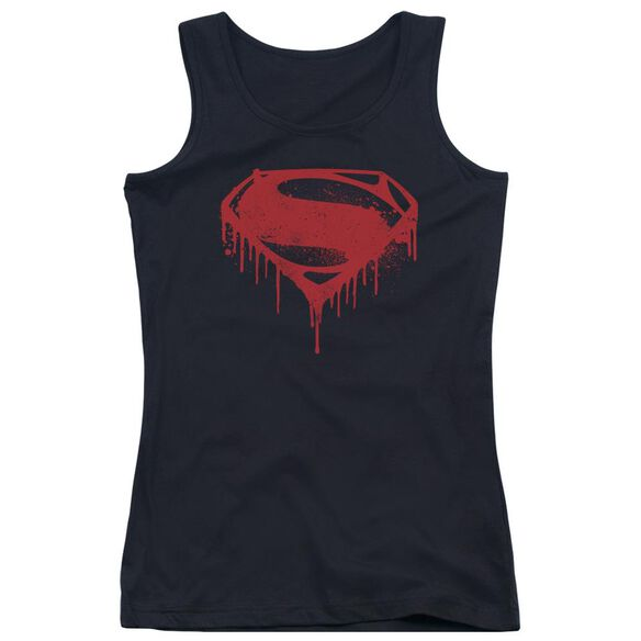 Batman V Superman Splattered Juniors Tank Top