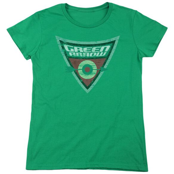 Batman Bb Arrow Shield Short Sleeve Womens Tee Kelly T-Shirt