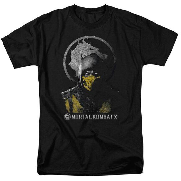 Mortal Kombat Scorpion Bust Short Sleeve Adult T-Shirt