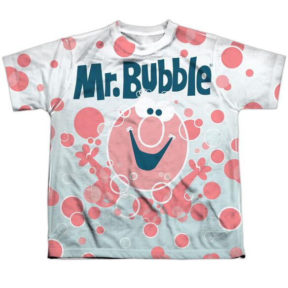 Mr Bubble Clean Sweep Short Sleeve Youth Poly Crew T-Shirt