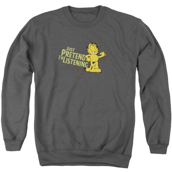 Garfield Just Pretend I'M Listening Adult Crewneck Sweatshirt