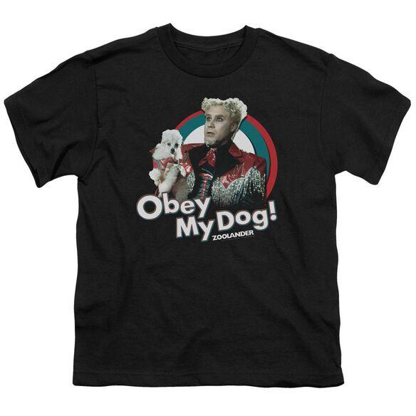 Zoolander Obey My Dog Short Sleeve Youth T-Shirt