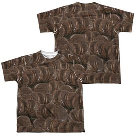 Moon Pie Overload (Front Back Print) Short Sleeve Youth Poly Crew T-Shirt