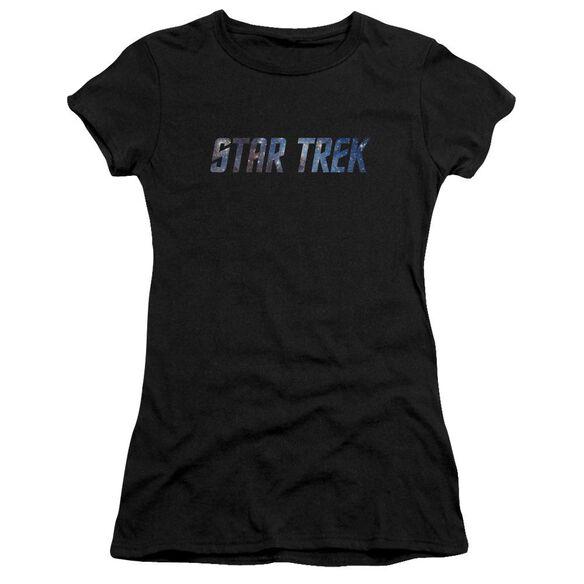 Star Trek Space Logo Premium Bella Junior Sheer Jersey