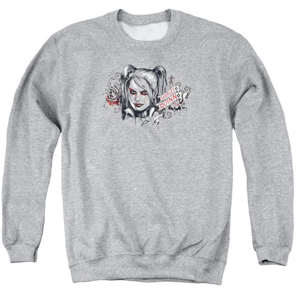 Batman Arkham Knight Hq Sketch Adult Crewneck Sweatshirt Athletic