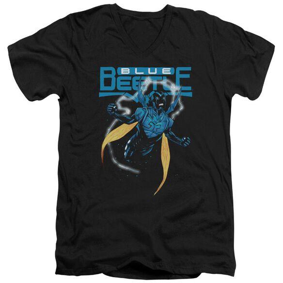 Jla Blue Beetle Short Sleeve Adult V Neck T-Shirt