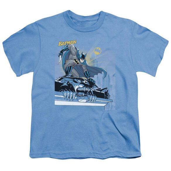 Batman Two Gotham Gargoyles Short Sleeve Youth Carolina T-Shirt
