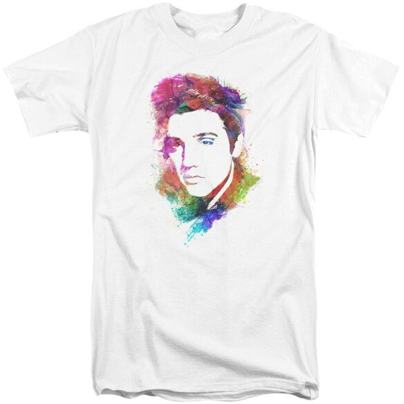 Elvis Watercolor King Short Sleeve Adult Tall T-Shirt