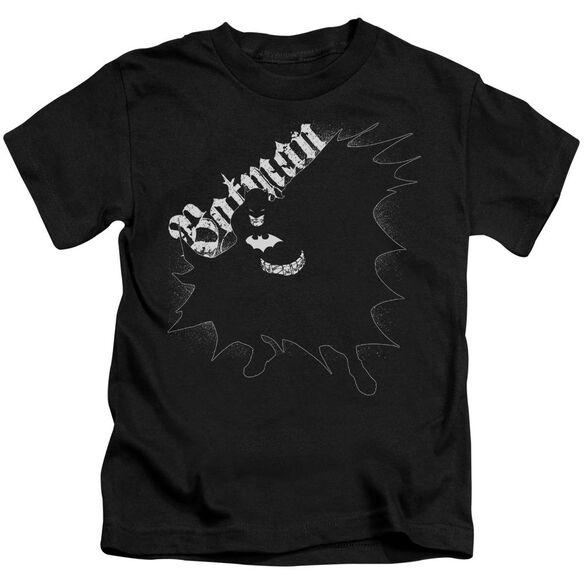 Batman Darkness Short Sleeve Juvenile Black T-Shirt
