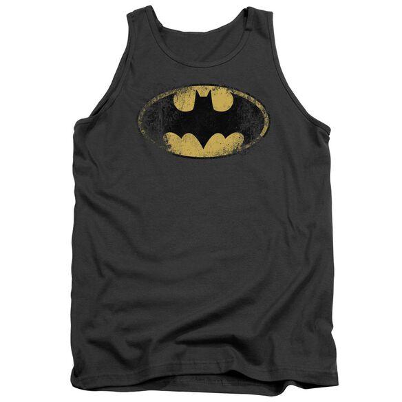 Batman Destroyed Logo Adult Tank