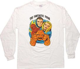 Fantastic Four Faces Long Sleeve T-Shirt