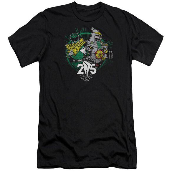Power Rangers Green 25 Short Sleeve Adult T-Shirt