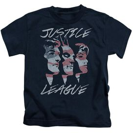 Jla Justice For America Short Sleeve Juvenile Navy T-Shirt