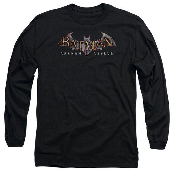 BATMAN AA ARKHAM ASYLUM LOGO - L/S ADULT 18/1 - BLACK T-Shirt