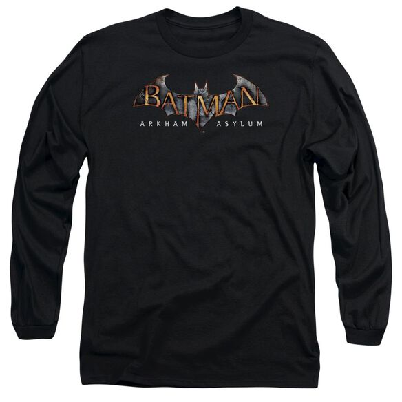 Batman Aa Arkham Asylum Logo Long Sleeve Adult T-Shirt