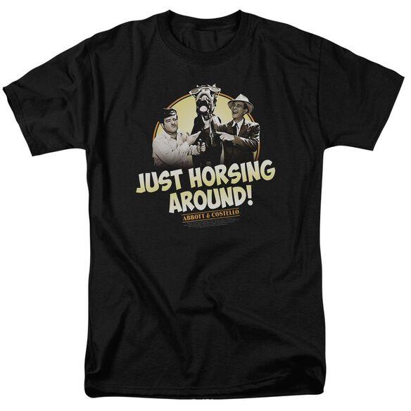 ABBOTT & COSTELLO HORSING AROUND - S/S ADULT 18/1 - BLACK T-Shirt