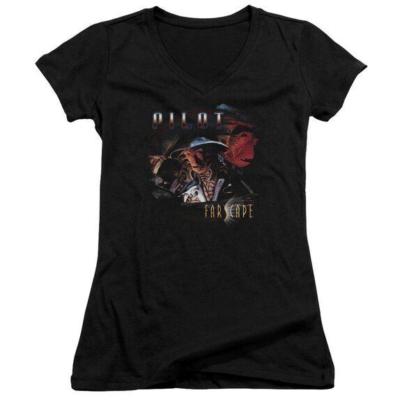 Farscape Pilot Junior V Neck T-Shirt