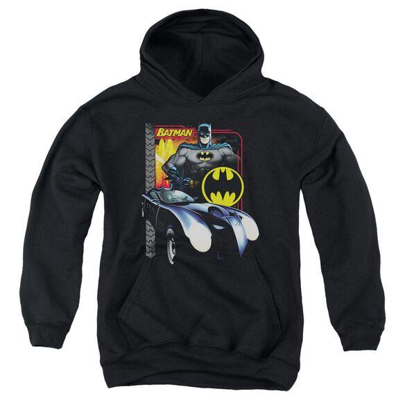 Batman Bat Racing Youth Pull Over Hoodie